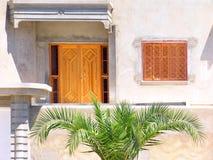 Front des tunesischen Hauses. Lizenzfreie Stockfotografie