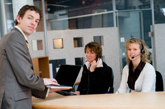 Front desk Royalty Free Stock Photography