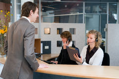 Front desk Stock Image