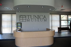 Front desk at the Tunica Museum in North Mississippi. Royalty Free Stock Photography