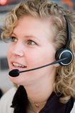 Front desk worker Royalty Free Stock Photos