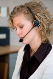 Front desk worker Royalty Free Stock Image