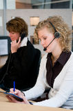 Front desk workers Royalty Free Stock Photography