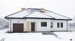 Front of detached house Stock Photos