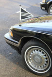 Front detail of a black hearse Stock Images