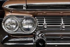 Front Detail de un coche del vintage Fotos de archivo