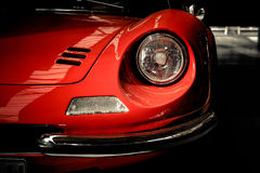 Front detail Ferrari/ Dino 246. Red, headlight Royalty Free Stock Images