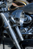 Front detail of motorcycle Royalty Free Stock Photo