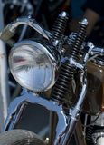 Front detail of retro style motorbike Stock Images