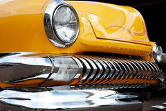 Front Detail of a Vintage Car Royalty Free Stock Image