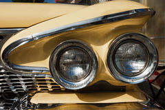 Front Detail of a Vintage Car stock photo