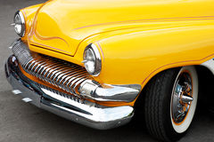 Front Detail of a Vintage Car Stock Image