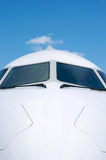 Front detail of white airplane Stock Image