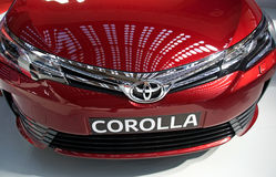 Front details of 2017 Toyota Corolla SX Sedan vehicle Royalty Free Stock Image