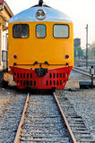 Front of the diesel hydraulic locomotive Royalty Free Stock Images