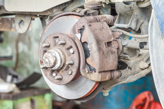 Front disc brake of car Stock Images
