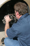 Front Disc Brake Inspection Stock Photos