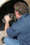 Front Disc Brake Inspection Stock Photos