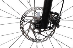 Front disc brake royalty free stock photo