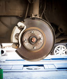 Front Disk brake assembly on a car Royalty Free Stock Images