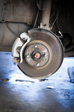 Front Disk brake assembly on a car Royalty Free Stock Photo