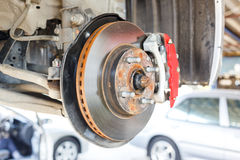 Front Disk brake assembly repair Royalty Free Stock Photography