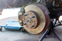 Front Disk brake assembly repair Royalty Free Stock Image