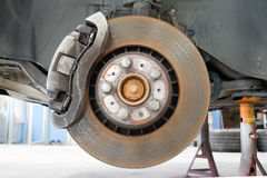 Front disk and caliper brake. Stock Photography