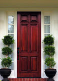 Front Door. Fancy front entryway Stock Image