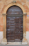 Front door with arch in gothic style Royalty Free Stock Images