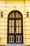 Front Door of a Beautiful. Front Door Brown of a Beautiful Royalty Free Stock Photography