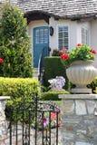Front door of beautiful house Stock Images