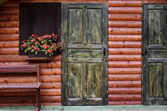Front Door of a Beautiful Old House.  Stock Photo