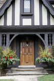Front door with Christmas decorations Stock Photography