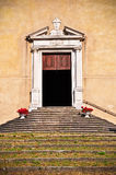 Front door of a church Royalty Free Stock Photo