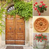Front door collage Stock Photography