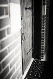 Front Door en bois de style gothique vue Photos libres de droits