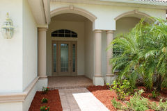 Front door and entry to house Royalty Free Stock Photo