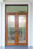 Front door of exclusive expensive house Royalty Free Stock Photo