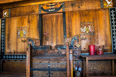Front door of a Flores traditional house in indonesia Stock Image
