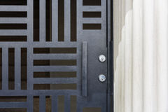 Front door, gated entryway Stock Images