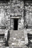 Front door of a Hindu temple. In Prambanan temple complex Stock Photos