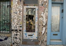 The front door of the home of Isaiah Zagar, Philadelphia stock photography