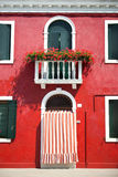 Front door of Home / Old European House / Italy. / Burano stock images