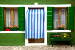 Front door of Home / Old European House / Italy Royalty Free Stock Images