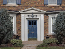 Front door of house Royalty Free Stock Images
