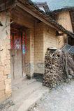 Front door of a house in China. Front door of rural house hold Stock Images