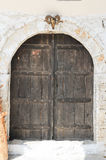 The front door of a house on the citadel of Kala o Royalty Free Stock Image