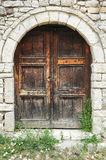 The front door of a house on the citadel of Kala o Stock Photo