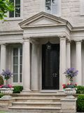 Portico entrance to house Stock Image